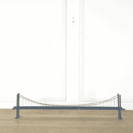 Model of Railway Suspension Bridge GA379521