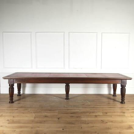 Monumental Mahogany Library Table TD8715298