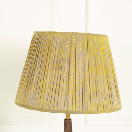 40cm Mustard and Grey Splatter Lampshade LS669040