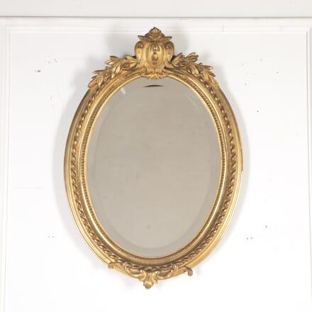 Napoleon III Small Oval Gilt Mirror MI8514582