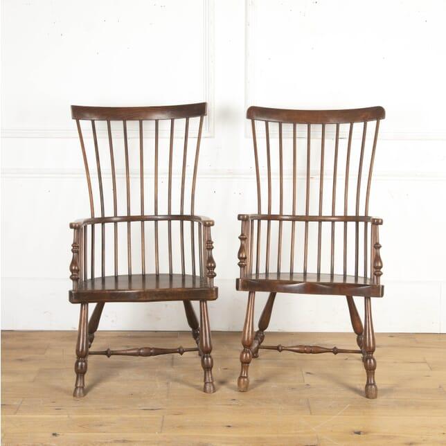 Near Pair of Scottish Darvel Chairs CH8716236