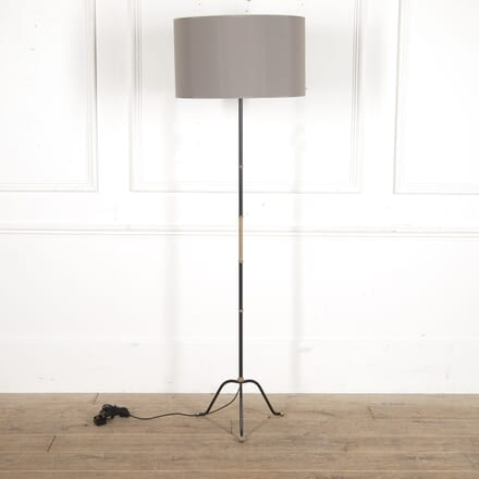 French Mid Century Brass and Lacquered Floor Lamp LF3016293