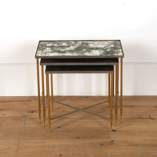 Nest of French Brass and Steel Tables TC3510925