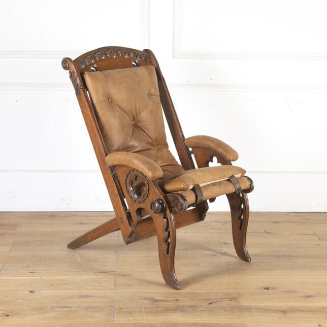 Oak Colonial Campaign Chair CH8013780