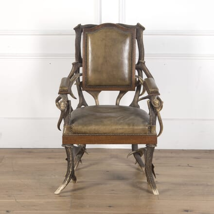 Oak Frame Antler Side Chair WD5310320