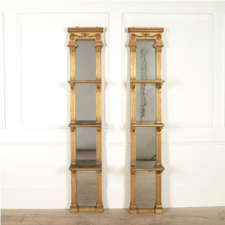 Pair of Mirrored Display Shelves OF0856742