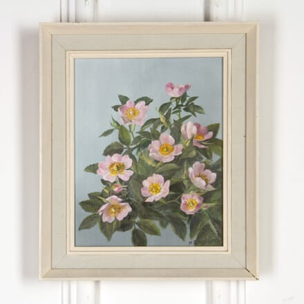 Oil on Board 'Scarborough Fair Roses' WD5917798
