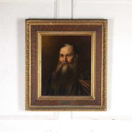 French Oil on Canvas Portrait WD7915751