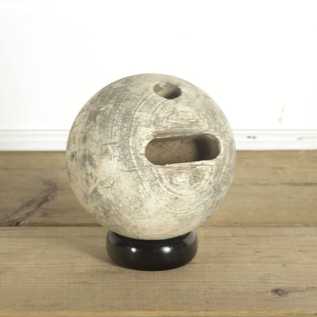 Old French Wooden Bowling Ball DA449252