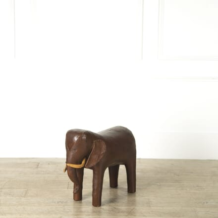 Omersa Leather Elephant Foot Stool ST119198