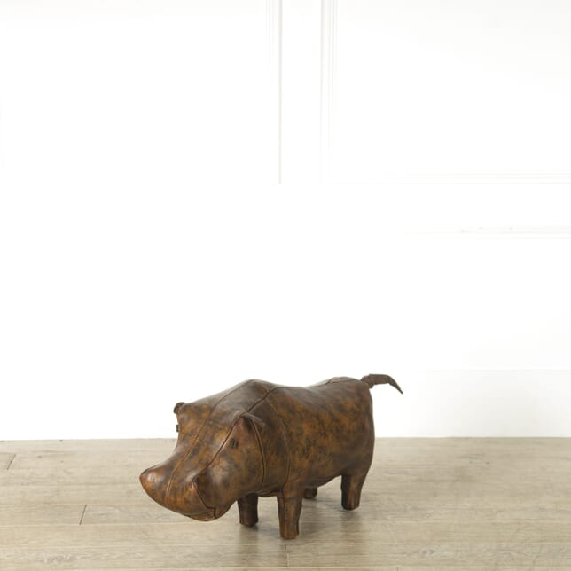 Omersa Leather Hippo Foot Stool ST119199