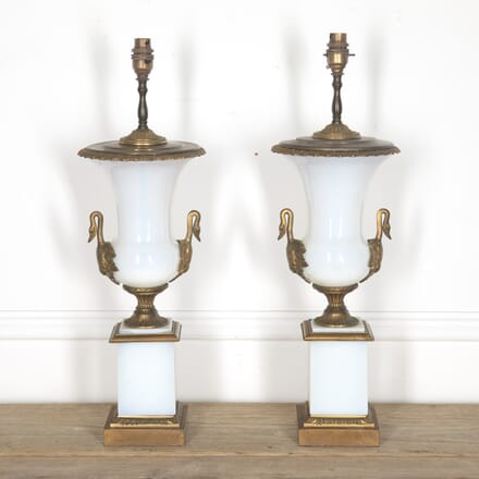 Pair of Opaline and Ormolu Lamps LT1314946