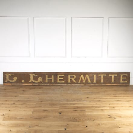 Original French Hand-Painted 'L.LHERMITE' Shop Sign DA8014332