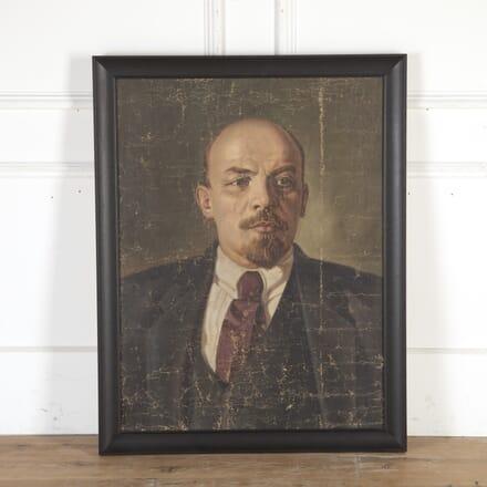 Original Oil on Canvas of Vladimir Lenin WD8013770