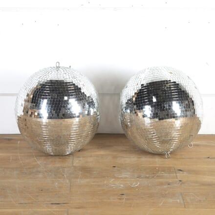 Pair of 1970s Nightclub Disco Mirror Balls DA8014329