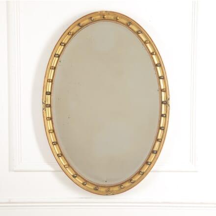 English 19th Century Oval Mirror MI8815997