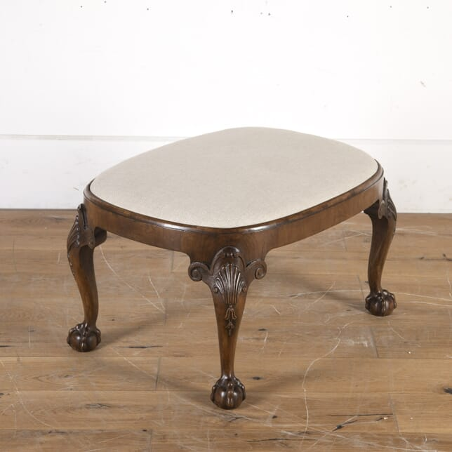 Walnut Oval Stool with Ball and Claw Feet ST1014349