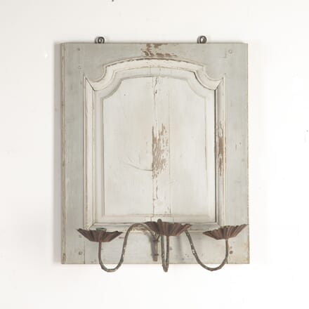 Painted French Panel with Iron Candle Sconce DA9014528