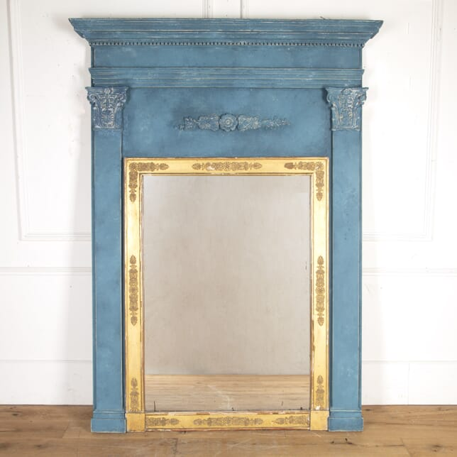 French Painted Trumeau Mirror MI7316285