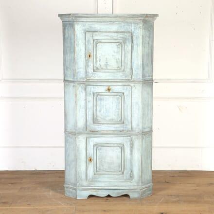 Dutch Painted Oak Corner Cupboard DA4314563