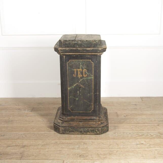 Painted Flemish 20th Century Pedestal BK2814809