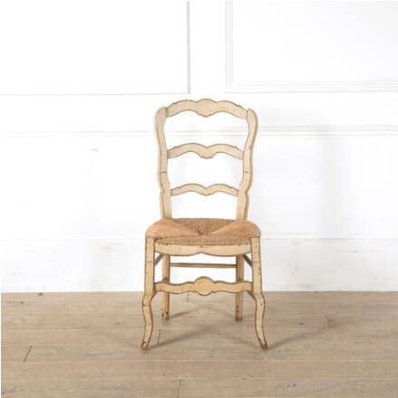 Painted Provencale Side Chair With Rush Seat CH9011246