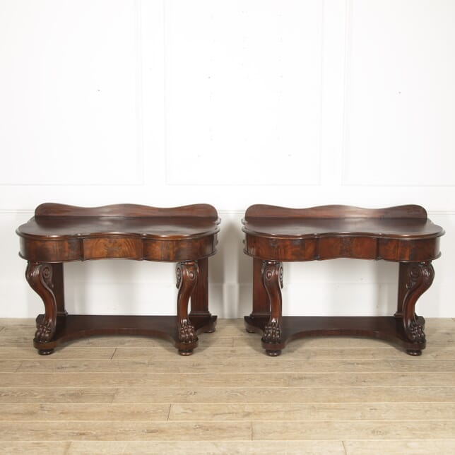 Pair of 19th Century Mahogany Console Tables CO8815700