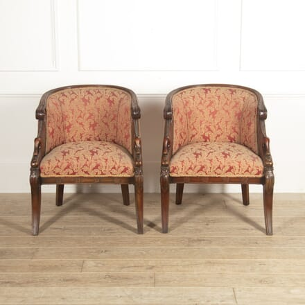 Pair of French 19th Century Empire Bergères CH8815089
