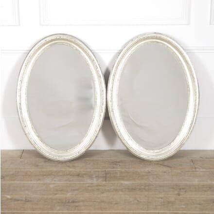 Pair of White Gold Leaf 19th Century Mirrors MI8814833