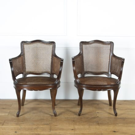 Pair of Caned Bergère Armchairs CH9016818
