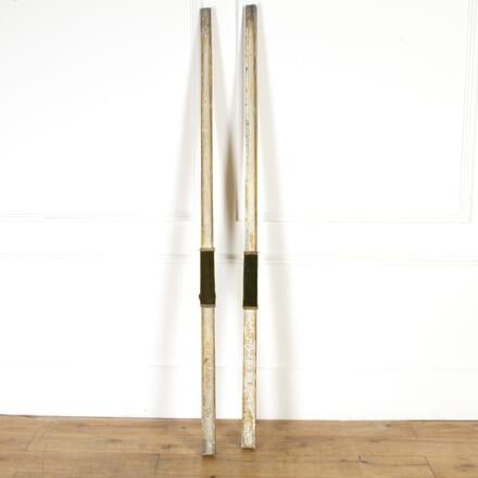 Pair of Painted Zinc Procession Sticks DA8117199