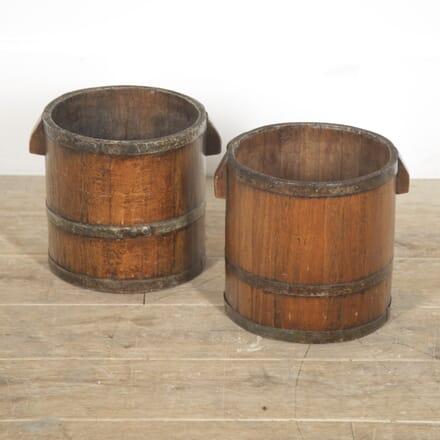 Pair of English 18th Century Barrels DA8815684
