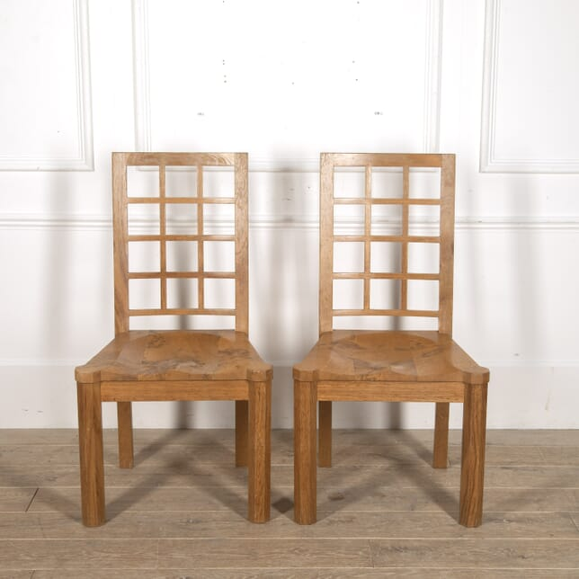 Pair of Tiger and Burr Oak Chairs by Stewart Linford CH8815620