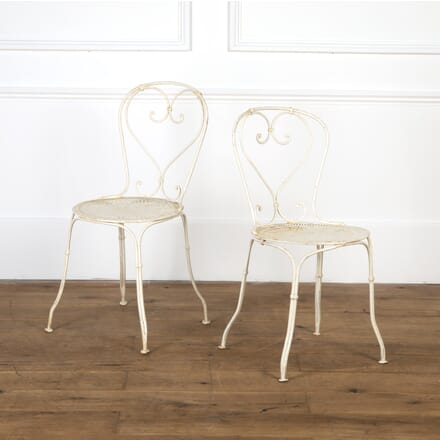 Pair of French Iron Garden Chairs GA9016808