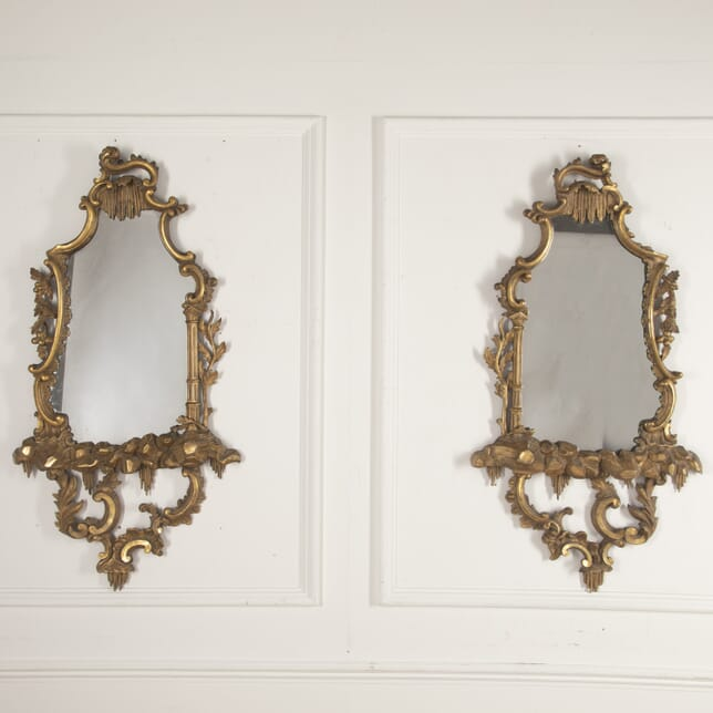 Pair of George III Gilt Chinoiserie Mirrors MI0916130