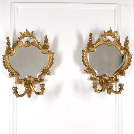 Pair of 20th Century Italian Florentine Mirrors MI8817452
