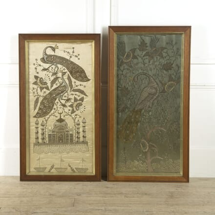 Pair of  19th Century Indian Silkwork Panels WD0310175