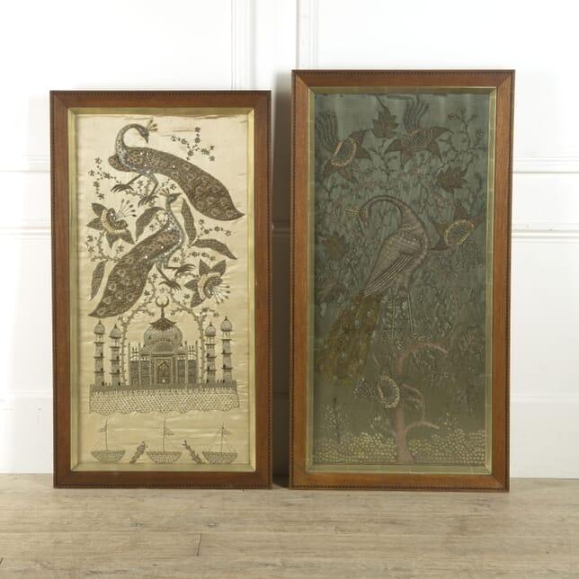 Pair of  19th Century Indian Silkwork Panels WD0310175