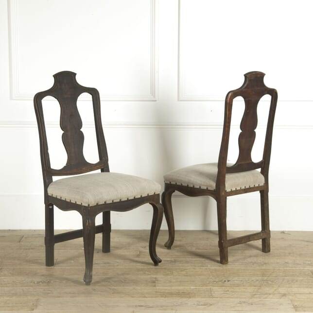 Pair of 18th Cent Italian Side Chairs CH929388