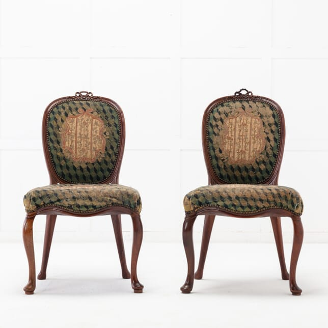 Pair of Dutch 18th Century Mahogany Side Chairs CH0616055