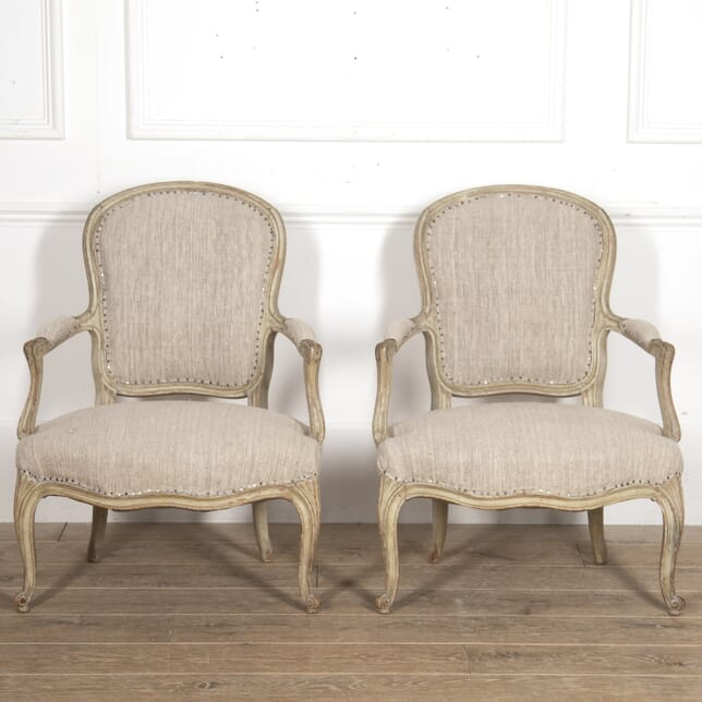 Pair of French Louis XV Fauteuils CH4416422
