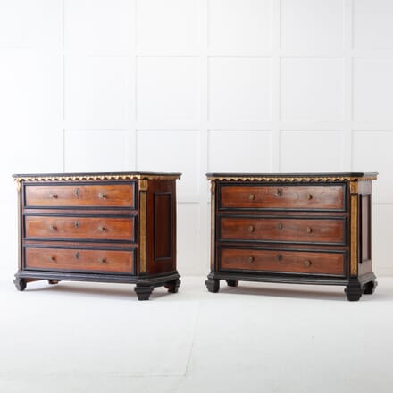 Pair of 18th Century Italian Walnut Chest of Drawers CC0617022