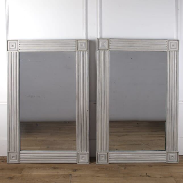 Pair of 1930s Bleached Oak Mirrors MI3610274