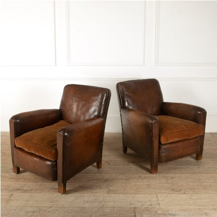 Pair of 1950s Leather Club Chairs CH1511565