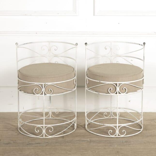 Pair of 1950s Metal Garden Chairs GA1510467