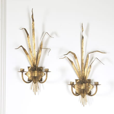 Pair of 1960s  Reed Wall Lights LW1510586