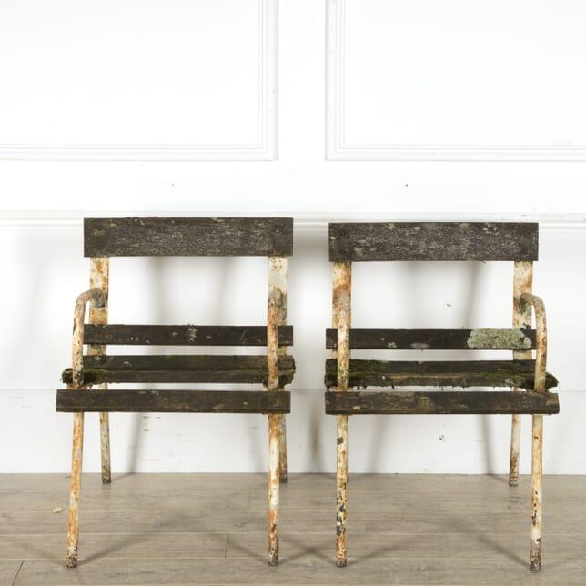 Pair of 1960s French Garden Chairs GA2010087
