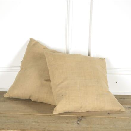 Pair of 19th Century Antique Hemp Cushions RT159750