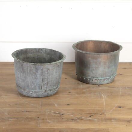 Pair of 19th Century Copper Planters GA8213803