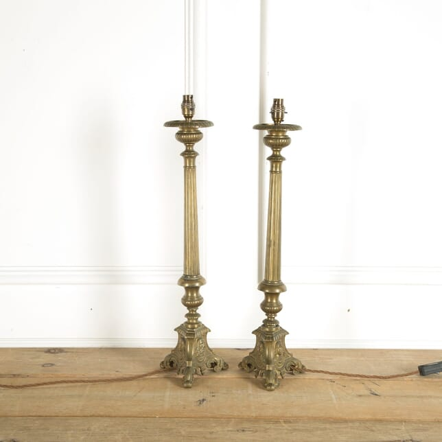 Pair of 19th Century Ecclesiastic Table Lamps LT159982